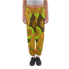 Brown Pattern Women s Jogger Sweatpants by Valentinaart
