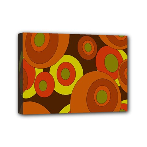 Orange Pattern Mini Canvas 7  X 5  by Valentinaart