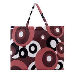 Decorative Pattern Zipper Large Tote Bag by Valentinaart