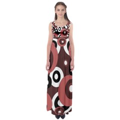 Decorative Pattern Empire Waist Maxi Dress by Valentinaart