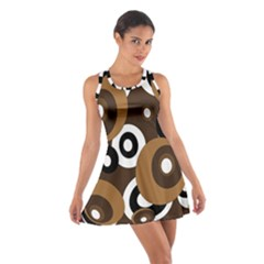 Brown Pattern Cotton Racerback Dress by Valentinaart