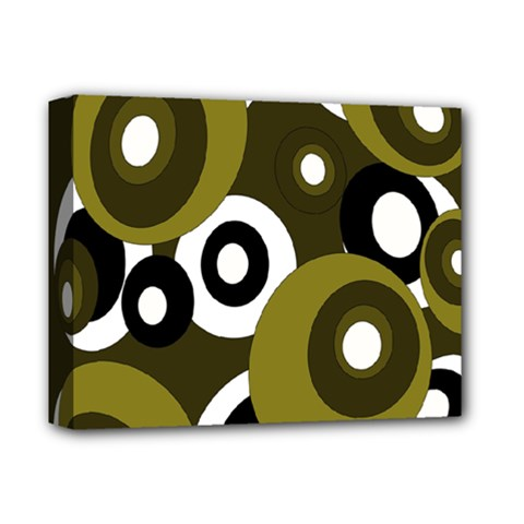 Green Pattern Deluxe Canvas 14  X 11  by Valentinaart