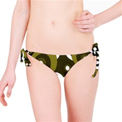 Green Pattern Bikini Bottom by Valentinaart
