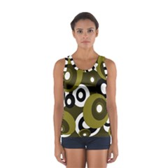 Green Pattern Women s Sport Tank Top  by Valentinaart