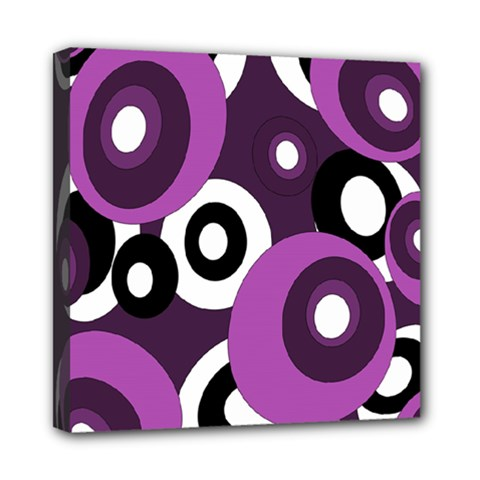 Purple Pattern Mini Canvas 8  X 8  by Valentinaart