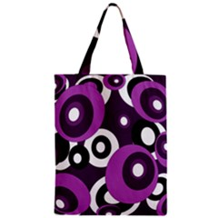 Purple Pattern Zipper Classic Tote Bag by Valentinaart