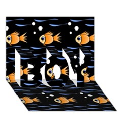 Fish Pattern Boy 3d Greeting Card (7x5) by Valentinaart