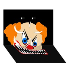 Evil Clown Clover 3d Greeting Card (7x5)  by Valentinaart