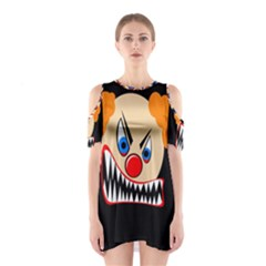 Evil Clown Cutout Shoulder Dress by Valentinaart