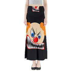 Evil Clown Maxi Skirts by Valentinaart