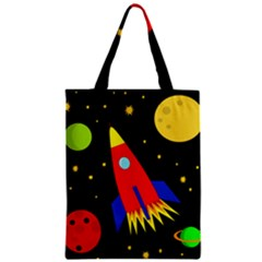 Spaceship Zipper Classic Tote Bag by Valentinaart