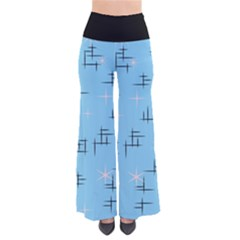 Abstract Lines And Pink Stars Retro Palazzo Pants  by tjustleft