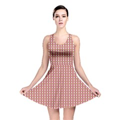 Mod Pink Green Pattern Reversible Skater Dress by BrightVibesDesign