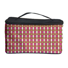 Mod Pink Green Pattern Cosmetic Storage Case by BrightVibesDesign