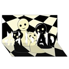 Chess Pieces #1 Dad 3d Greeting Card (8x4)  by Valentinaart