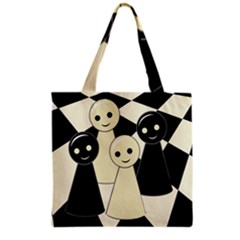 Chess Pieces Grocery Tote Bag by Valentinaart