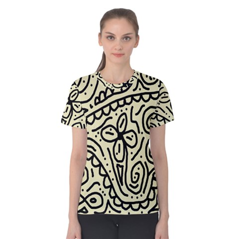 Artistic Abstraction Women s Cotton Tee by Valentinaart
