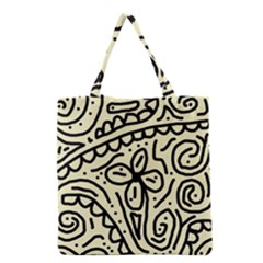 Artistic Abstraction Grocery Tote Bag by Valentinaart