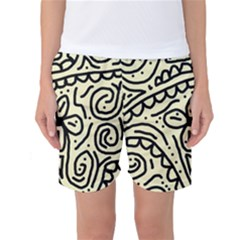 Artistic Abstraction Women s Basketball Shorts by Valentinaart