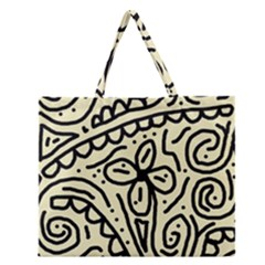 Artistic Abstraction Zipper Large Tote Bag by Valentinaart
