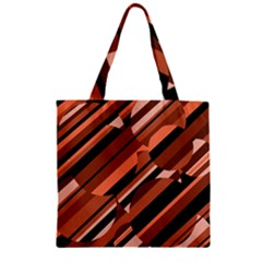 Orange Pattern Zipper Grocery Tote Bag by Valentinaart