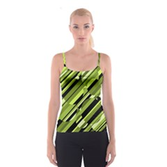 Green Pattern Spaghetti Strap Top by Valentinaart