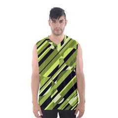 Green Pattern Men s Basketball Tank Top by Valentinaart