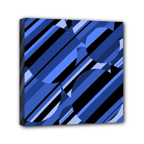 Blue Pattern Mini Canvas 6  X 6  by Valentinaart