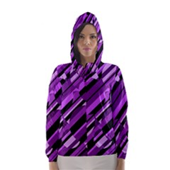 Purple Pattern Hooded Wind Breaker (women) by Valentinaart