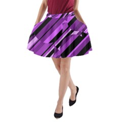 Purple Pattern A Line Pocket Skirt by Valentinaart