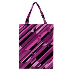 Magenta Pattern Classic Tote Bag by Valentinaart