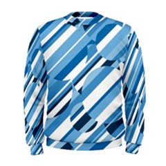 Blue Pattern Men s Sweatshirt