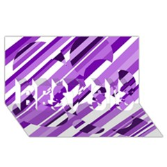 Purple Pattern Best Sis 3d Greeting Card (8x4)  by Valentinaart