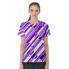 Purple Pattern Women s Cotton Tee by Valentinaart