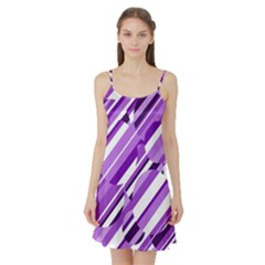 Purple Pattern Satin Night Slip