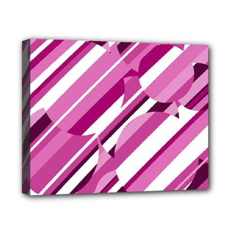 Magenta Pattern Canvas 10  X 8  by Valentinaart