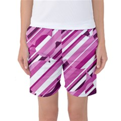 Magenta Pattern Women s Basketball Shorts by Valentinaart