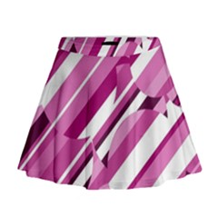 Magenta Pattern Mini Flare Skirt by Valentinaart