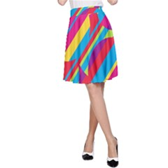 Colorful Summer Pattern A Line Skirt