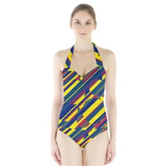 Colorful Pattern Halter Swimsuit by Valentinaart