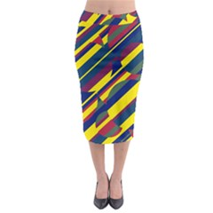 Colorful Pattern Midi Pencil Skirt by Valentinaart