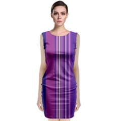 Striped Color Classic Sleeveless Midi Dress by olgart