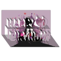 Make You Dirty Happy Birthday 3d Greeting Card (8x4)