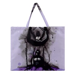 Suspension Zipper Large Tote Bag by lvbart