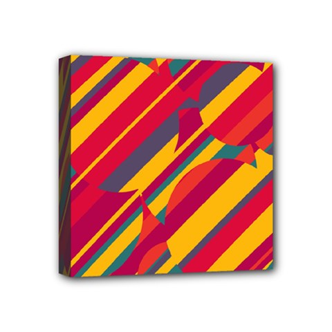 Colorful Hot Pattern Mini Canvas 4  X 4  by Valentinaart