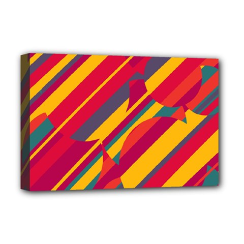Colorful Hot Pattern Deluxe Canvas 18  X 12