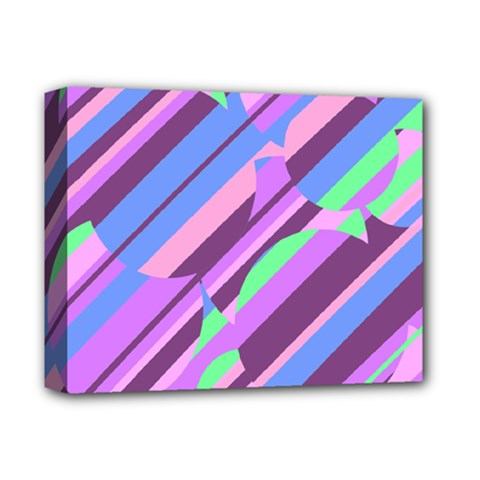 Pink, Purple And Green Pattern Deluxe Canvas 14  X 11  by Valentinaart