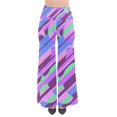 Pink, Purple And Green Pattern Pants by Valentinaart