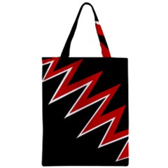 Black And Red Simple Design Classic Tote Bag by Valentinaart