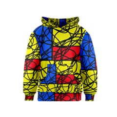 Yellow Abstract Pattern Kids  Pullover Hoodie by Valentinaart